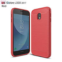 Накладка iPaky Carbon for Samsung J330 Red