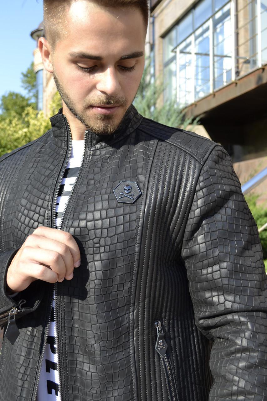 ffc50994b02d Кожаная куртка PHILIPP PLEIN. Реплика. Мужская одежда: продажа, цена ...