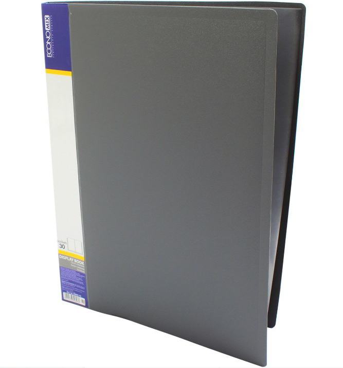 Папка А4 с 30 файлами Economix, серая E30603-10