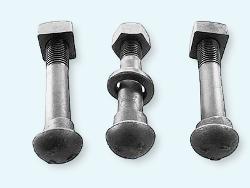 Крепёж железнодорожный: путевые болты и гайки, высокопрочные болты, гайки для рельсовых стыков, клеммные болты с гайками и другой железнодорожный крепёж