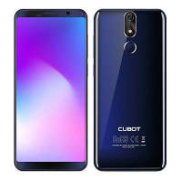 Смартфон синий с большим дисплеем и хорошей мощной батареей на 2 сим карты Cubot Power blue 6/128ГБ