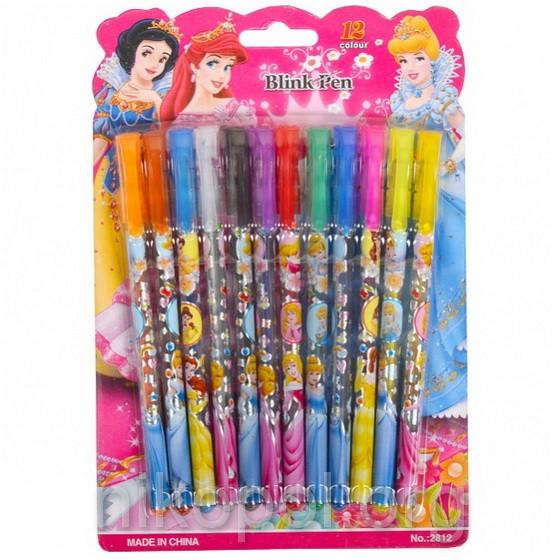 """Набор детских ручек """"Принцессы"""", 12 цветов"""