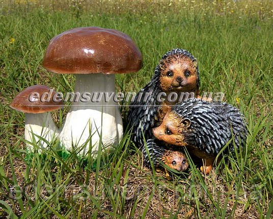 Садовая фигура Два боровика и Семейка ежей, фото 2