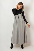 Платье LiLove 483 48-50 черный с серым