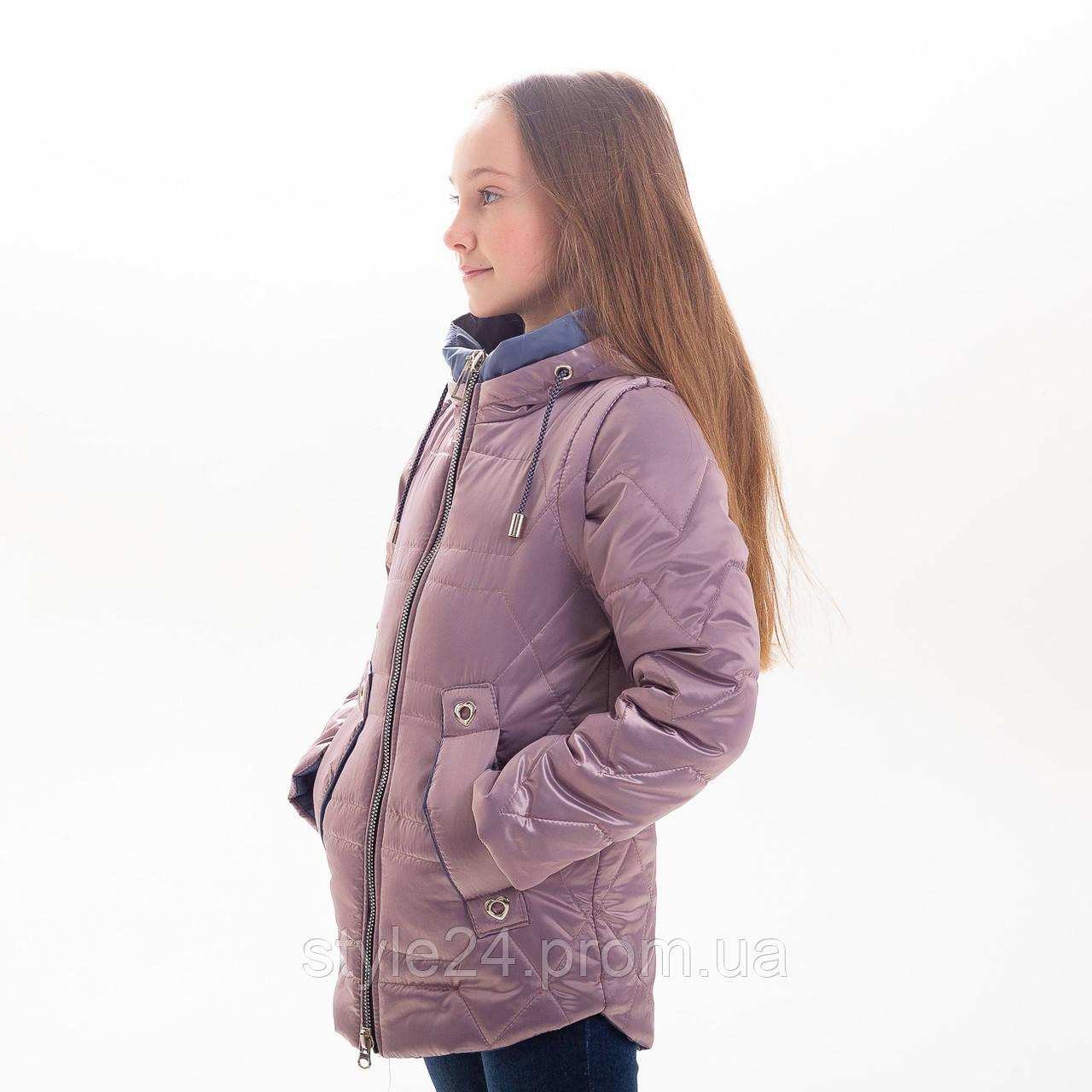 Весняна куртка-жилетка на дівчинку ростом 122-152 a56e3dc5d5020