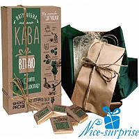 Кофейный набор с шоколадом ВІТАЮ (5 мини плиток)