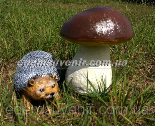 Садовая фигура Гриб польский и Ежик малый, фото 2