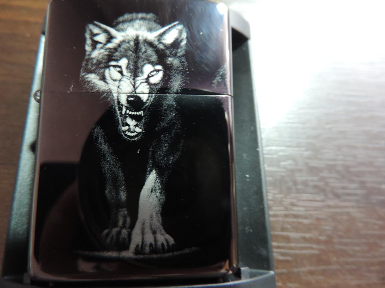 Зажигалка ZIPPO «Wolf power» копия