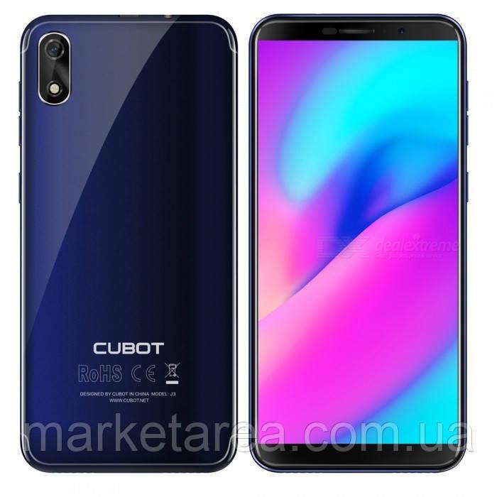 Смартфон кубот синий, тонкий, безрамочный на 2 сим карты Cubot j3 blue 1/16GB