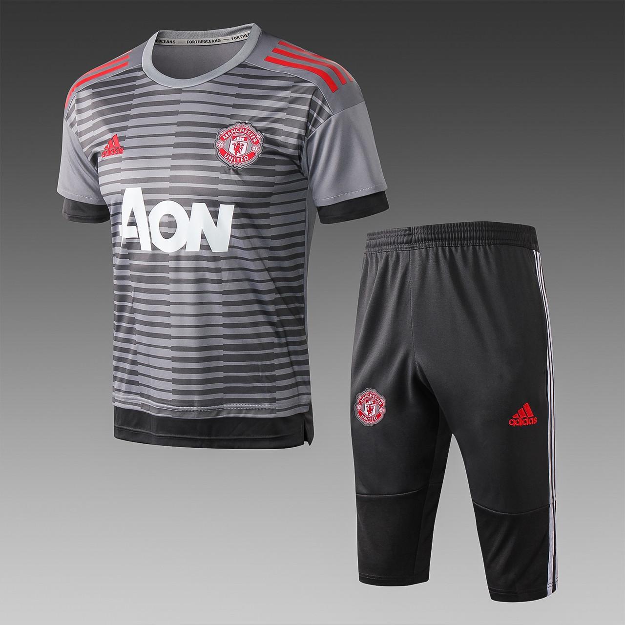 Річний тренувальний костюм Манчестер юнайтед 2019 (бриджі + футболка)