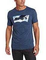Футболка Levi's Men's Beaker T-Shirt, Indigo/Black Heather