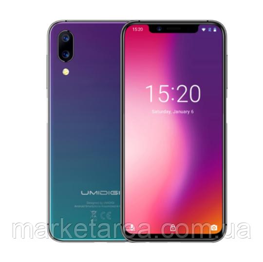 Смартфон разноцветный с большим дисплеем и хорошей двойной камерой на 2 сим карты Umidigi One twlight 4/32ГБ
