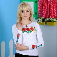 Женская вышиванка длинный рукав Роскошь до 50 размера