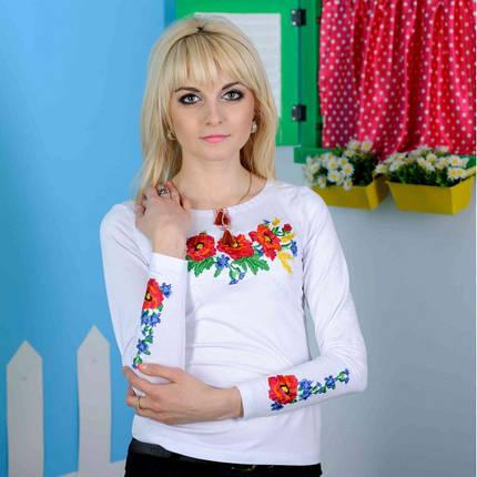 Женская вышиванка длинный рукав Роскошь до 50 размера, фото 2