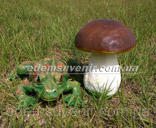 Садовая фигура Гриб польский и Жаба речная, фото 2