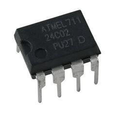 Микросхема памяти EEPROM. 24C02C / ATMEL711 / DIP-8. 1 шт
