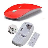 Мышь беспроводная USB,красная, фото 1