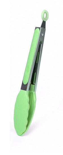 Щипцы из нержавеющей стали 27х4х3.5см с силиконовыми наконечниками Fissman