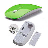 Мышь беспроводная USB, Green, фото 1