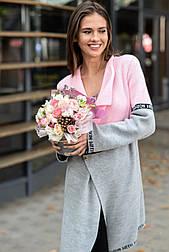 Вязаный кардиган с лампасами «FashionWeek» 44-50