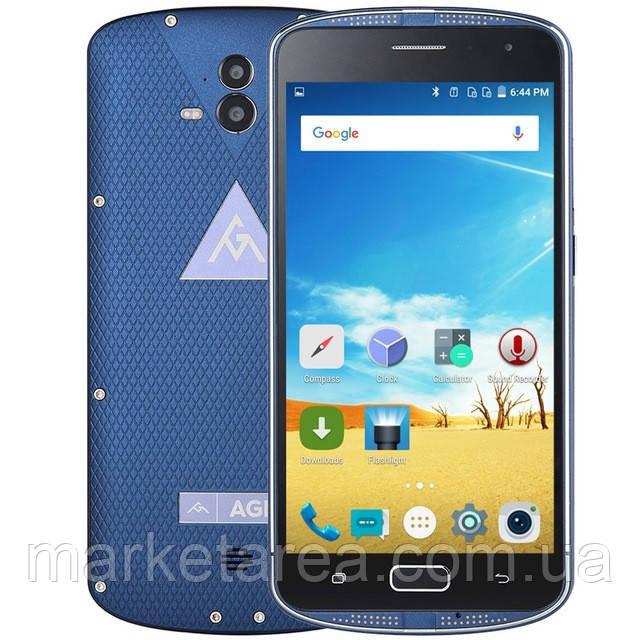 Смартфон защищенный синий с большим дисплеем и мощной батареей на 2 сим карты AGM X1 blue 4/64 (white box) NFC