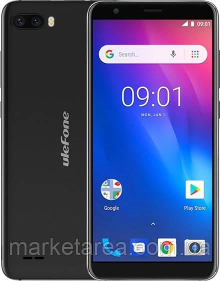 Смартфон черный с большим дисплеем и двойной камерой на 2 сим карты UleFone S1 black 1/8ГБ