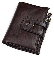 Кошелек Vintage 14602 кожаный Коричневый, Коричневый