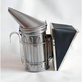 Дымарь пасечный со съёмным мехом и с ограждением из прутка (нержавеющая сталь)