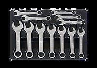 Набор укороченных комбинированных ключей, ложемент, 12 предметов. KING TONY 9-1282MR, фото 1