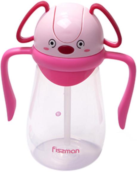 Бутылка детская для воды 12х7х18см/400мл из пластика Fissman