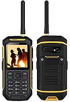 """Защищенный телефон Land Rover X6 yellow (рация) IP67 2SIM 2,4"""" 0,3Мп оригинал Гарантия!"""