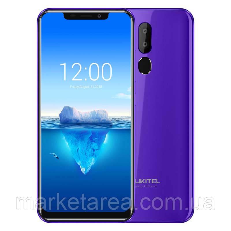 Смартфон оукител фиолетовый с двойной камерой и большим экраном на 2 сим карты OUKITEL C12 Pro purple 2/16gb