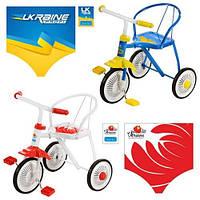 Трехколесный велосипед LH-701UKR-WB (Бело-Красный)