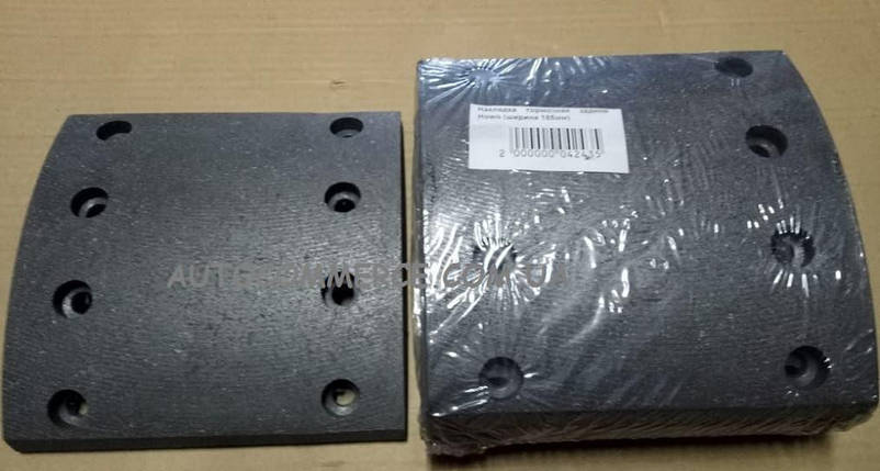 Накладка тормозная задняя HOWO (ХОВО ширина 185мм), фото 2