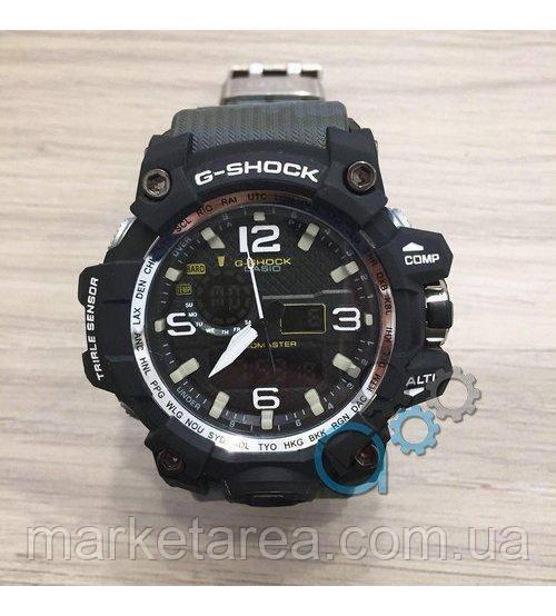 13b1bc76 Часы мужские наручные Casio G-Shock GWG-1000 Black-Green Militari Wristband  гарантия