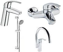 Eurosmart Набір змішувачів для ванни+кухня (23324001+33300002+27926000+33202002)
