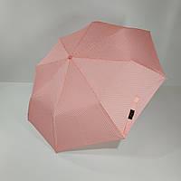 """Механический компактный зонт в горошек от фирмы """"SL"""", розовой цвет"""
