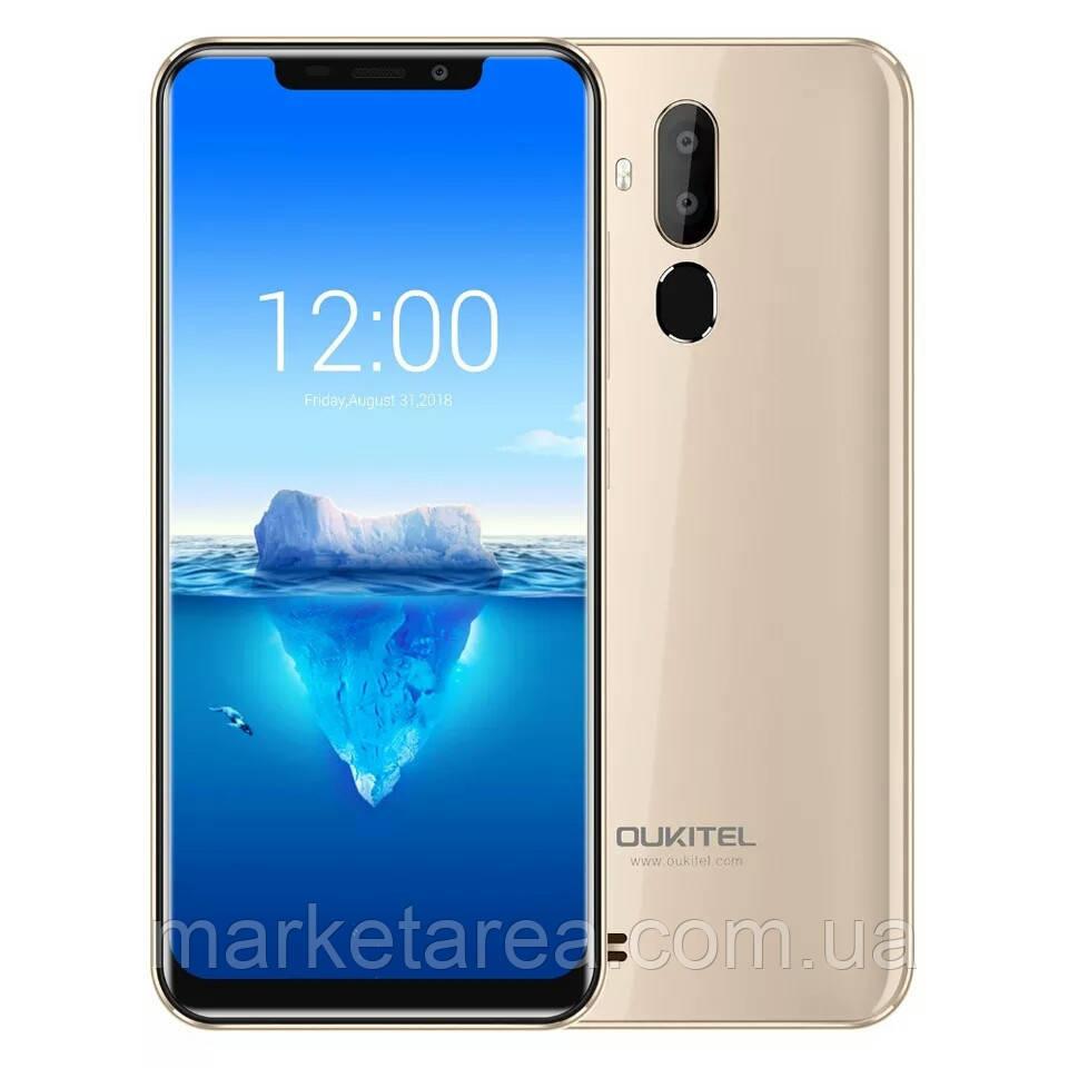 Смартфон оукител золотистый с двойной камерой и большим экраном на 2 сим карты OUKITEL C12 Pro gold 2/16 гб