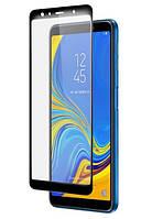 Защитное стекло Premium 6D для SAMSUNG A750 Galaxy A7 (2018) - черный