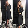 Женское платье классика с поясом в расцветках. ЛД-14-0119, фото 7