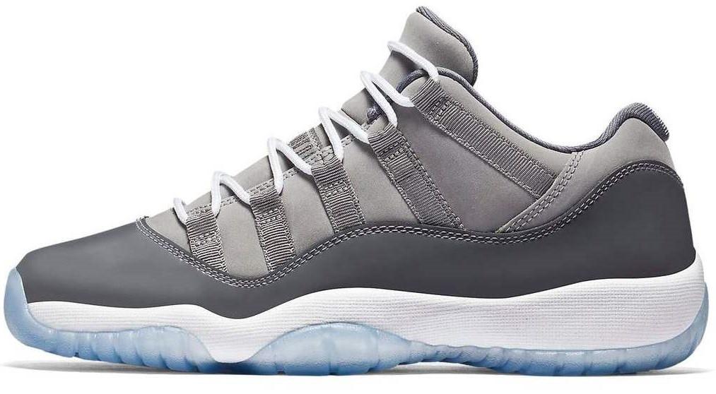 c0cb9acf Баскетбольные кроссовки Nike Air Jordan 11 Retro Low Grey (найк аир джордан  11, серые