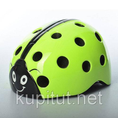 детский защитный шлем, Шлем AS180065-5, Божья Коровка, детский, защитный, с регулировкой