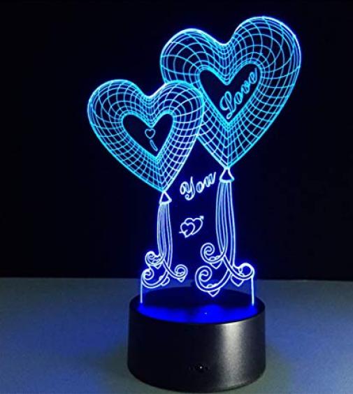 Настольный светильник с 3D эффектом 1111 | 3D ночник