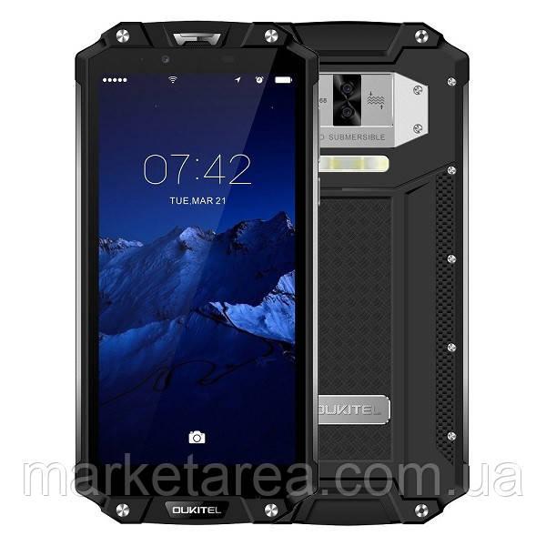 Смартфон защищенный с большим дисплеем и функцией нфс на 2 sim OUKITEL WP2 black 4/64ГБ