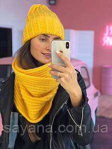 Женская комплект: шапка и снуд в расцветках. ЛД-39-0219