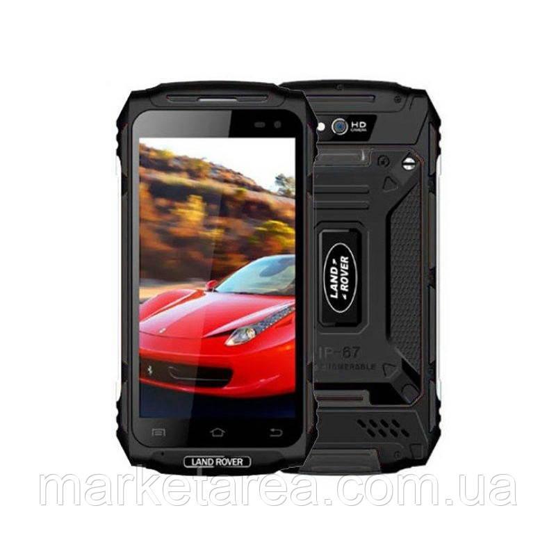Защищенный смартфон черный с аккумулятором большой емкости на 2 сим карты Land Rover X2 Max black 3/32 гб