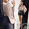 Стильные женские шорты из матированной эко-кожи S, M, фото 2
