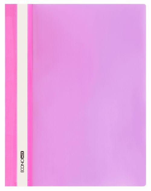 """Папка-скоросшиватель А4 Economix без перфорации, фактура """"апельсин"""", розовая E31509-09"""