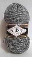 Пряжа Alize Lanagold Classic, цвет - серый меланж