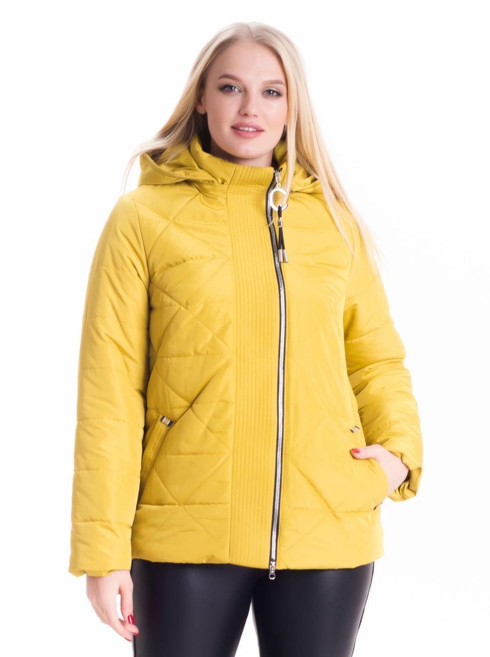Женская стильная куртка песочного цвета 46-66рр.